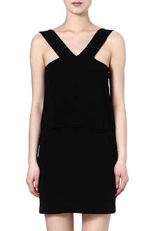 SANDRO Reveuse crepe dress