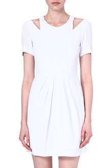 SANDRO Cut-out crepe dress