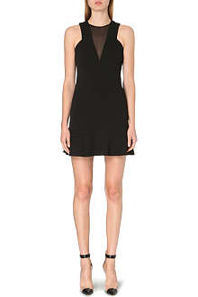 SANDRO Rebecca sleeveless crepe dress