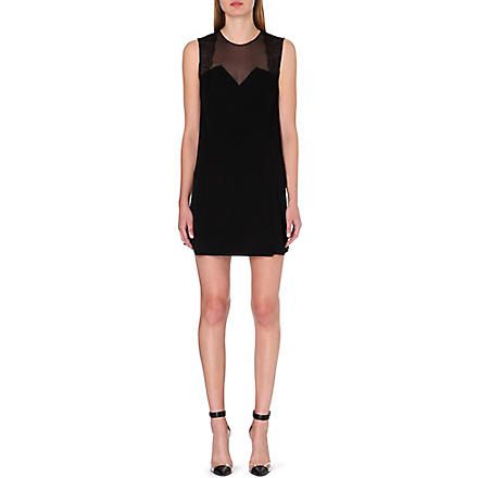 SANDRO Rozabel sleeveless crepe dress (Black