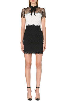 SANDRO Rozen lace panel bow dress