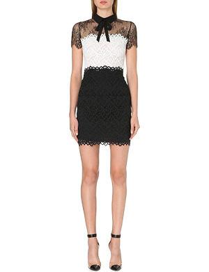 SANDRO Rozen lace-panel bow dress