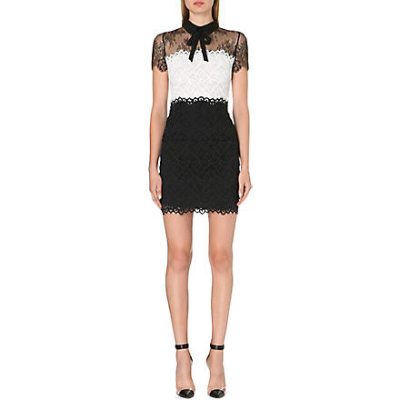 SANDRO Rozen lace panel bow dress (Cream