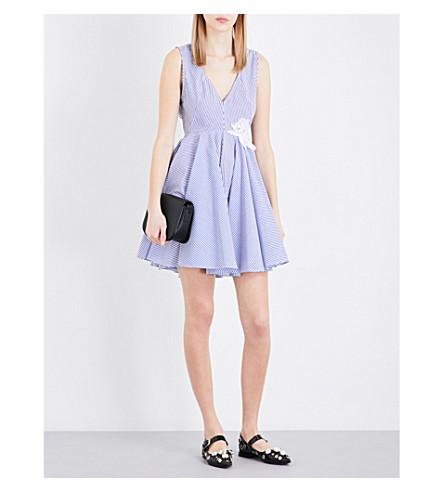 SANDRO Striped cotton dress (Blue