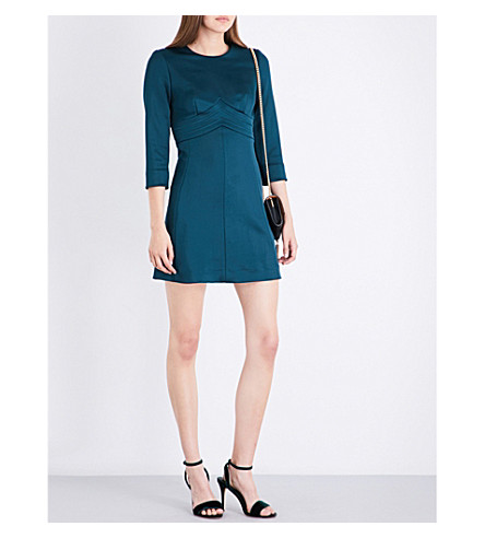 SANDRO Structured jersey dress (Forest+green