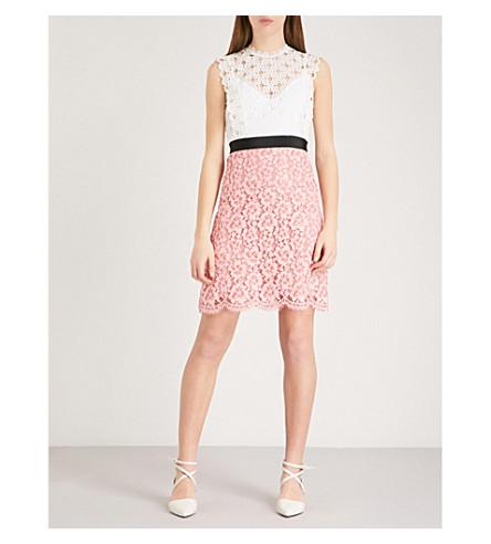 SANDRO Cutout sleeveless embroidered mini dress (Blanc