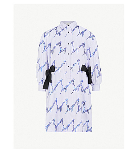 SANDRO Happening embellished shirt dress (Bleu+ciel