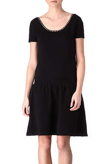 SANDRO Reminder stretch-cotton dress