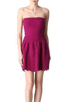 SANDRO Raffiki cotton-blend knitted dress
