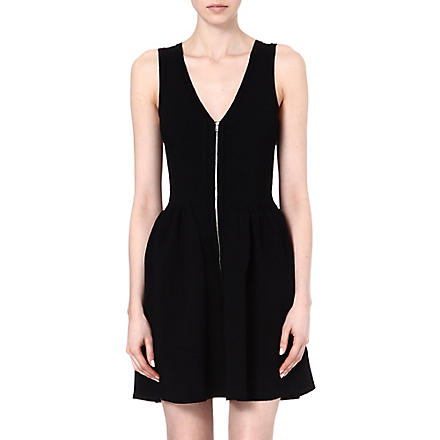 SANDRO Ravage front zip dress (Black