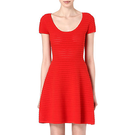 SANDRO Stripe detailed dress (Red