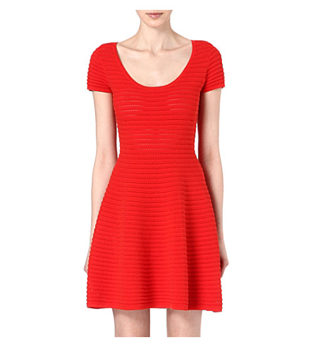 SANDRO Rififi perforated dress (Red