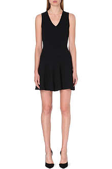 SANDRO Sleeveless crepe dress