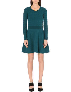 SANDRO Ricarda long-sleeved stretch-cotton dress