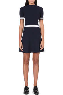 SANDRO Rayana high neck skater dress