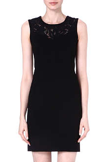 SANDRO Rupture sleeveless lace dress