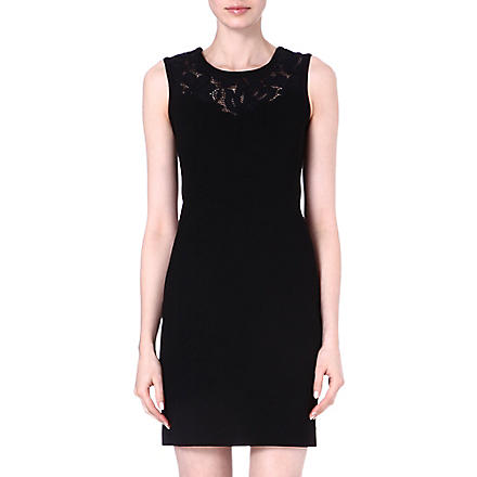 SANDRO Rupture sleeveless lace dress (Black