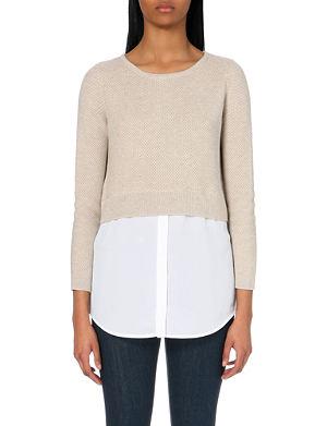 SANDRO Shirt-detail knitted jumper