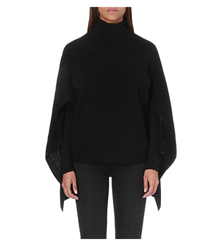 SANDRO Draped wool jumper (Black
