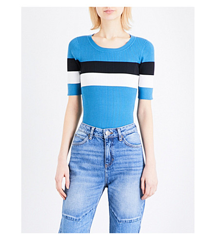 SANDRO Striped knitted jumper (Multi