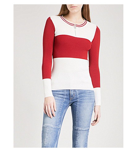 SANDRO Striped knitted jumper (Ecru