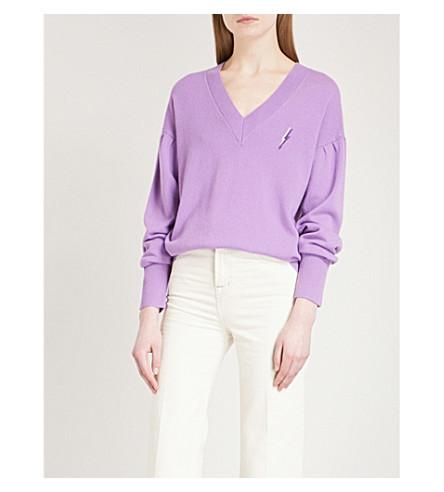 SANDRO Alright wool and cashmere-blend jumper (Violet