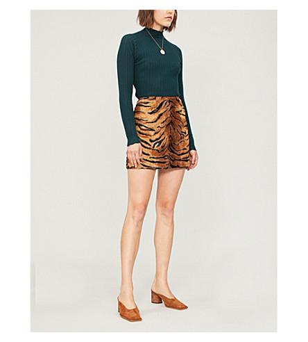 SANDRO 毛衣高颈衣裙摆针织 (瓶 + 绿)