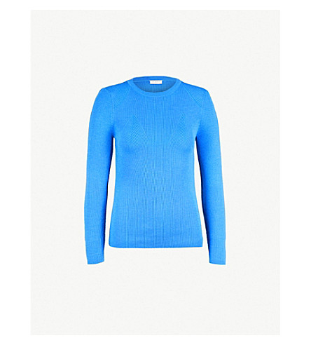 SANDRO Ribbed-knit jumper (Bleu