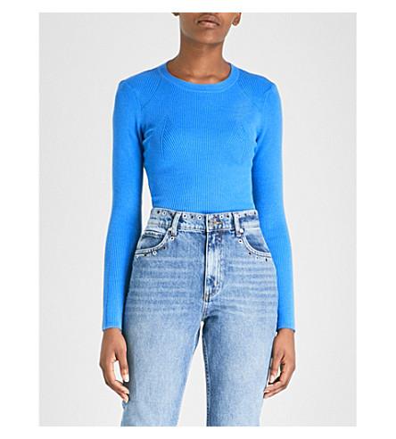 SANDRO Ribbed-knit jumper (Bleu