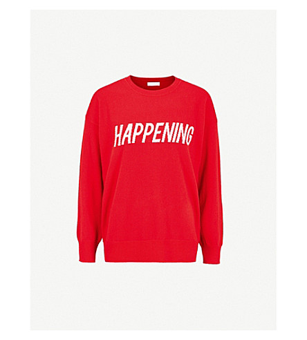 SANDRO Happening wool-blend jumper (Red