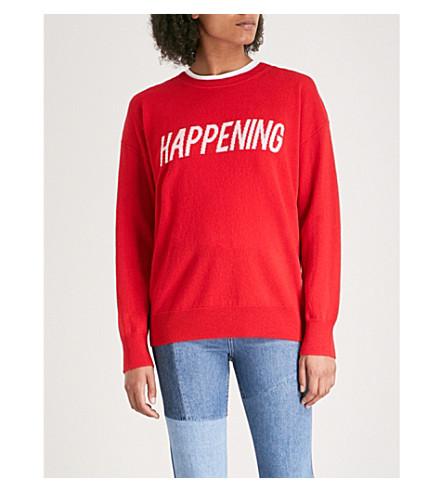 SANDRO Happening wool-blend jumper (Red