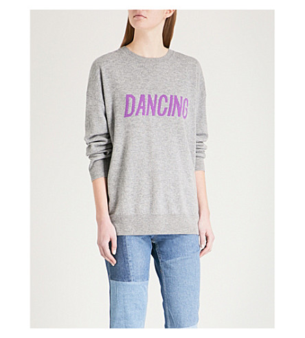 SANDRO Dancing wool and cashmere-blend jumper (Grey