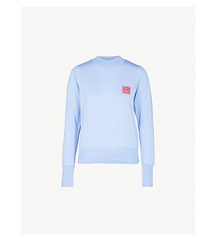 SANDRO Espoir wool jumper (Sky+blue