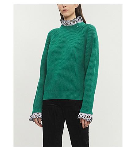 SANDRO 加菲羊毛混纺毛衣 (植物园