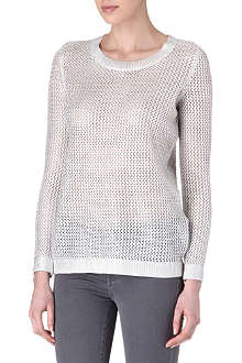 SANDRO Star mesh-knit jumper