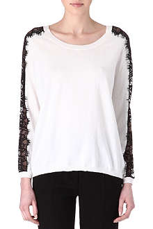SANDRO Suzette lace-detail jumper