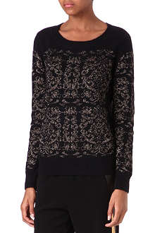 SANDRO Songe knitted jumper