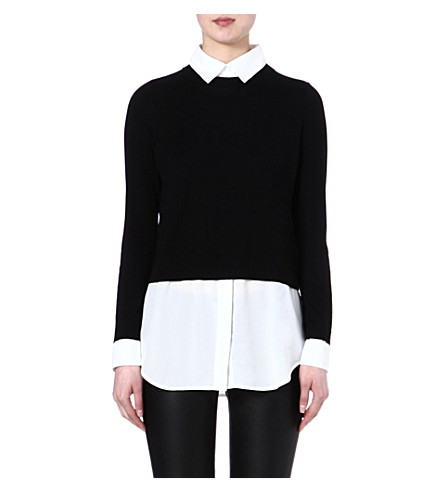 SANDRO Seul 2 in 1 jumper (Black