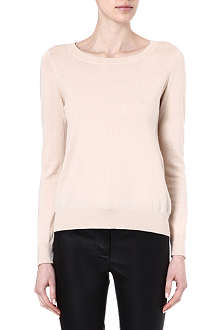 SANDRO Soft cut out crew neck jumper