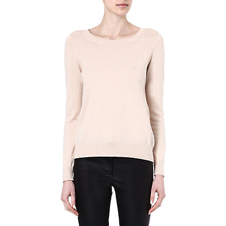 SANDRO Soft cut out crew neck jumper (Sand