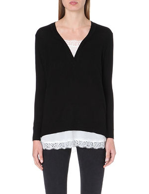 SANDRO Wool and silk jumper