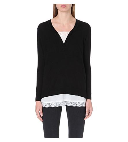 SANDRO Wool and silk jumper (Black