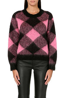 SANDRO Sparks diamond-patterned jumper