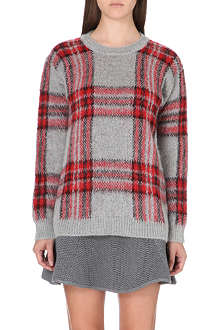 SANDRO Stacy check jumper
