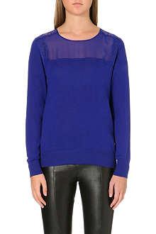 SANDRO Sally cashmere-blend jumper