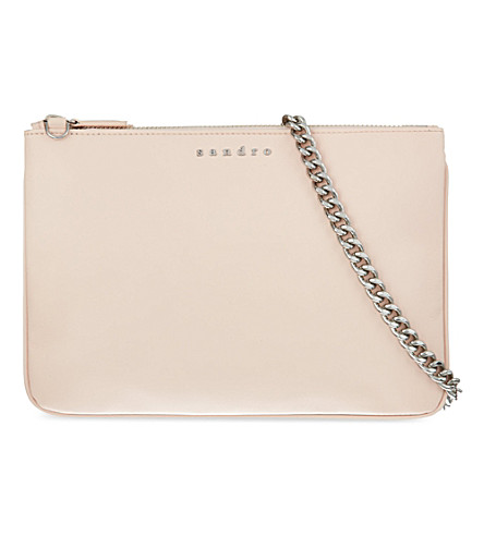 SANDRO Addict double zipper convertible bag (Powder