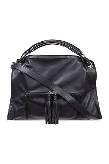 SANDRO Adel medium leather shoulder bag