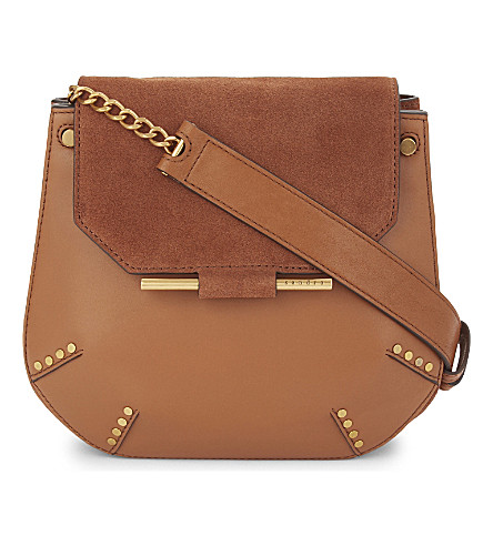 SANDRO Bonnie shoulder bag (Light+brown