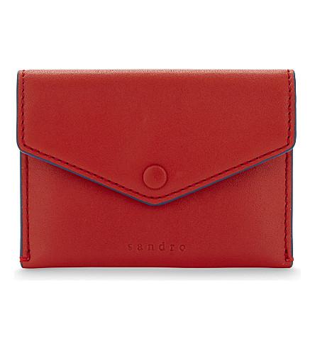SANDRO Pola small leather purse (Grenadine