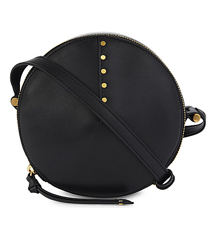 SANDRO Bonnie leather cross-body bag (Black